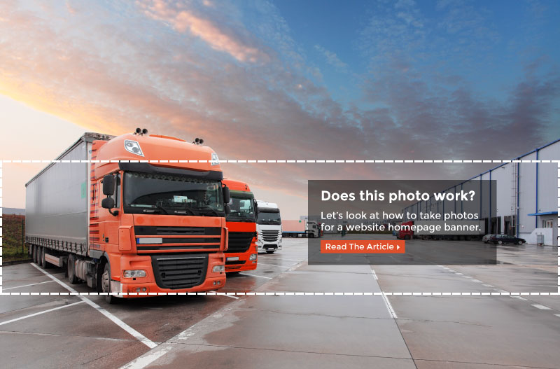 How to Take a Photo for a Website Homepage Banner