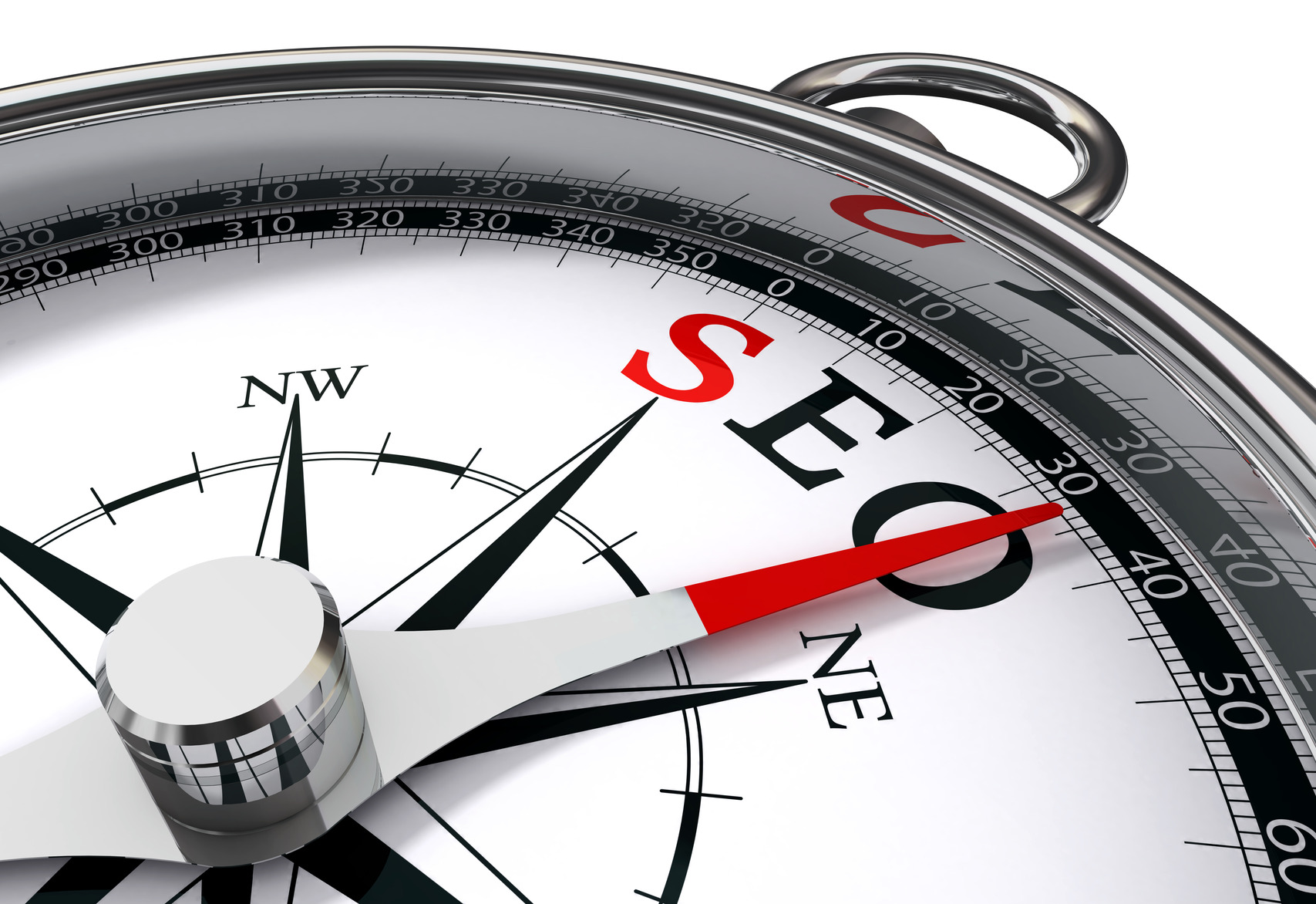 seo the way indicated by compass
