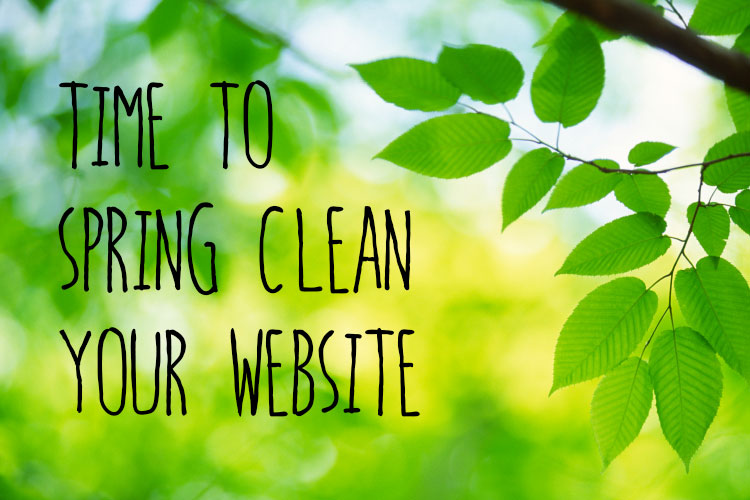 spring cleaning for websites