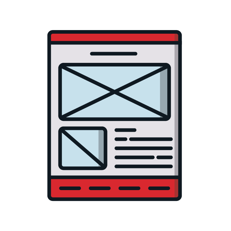 Website Design Wireframes Icon