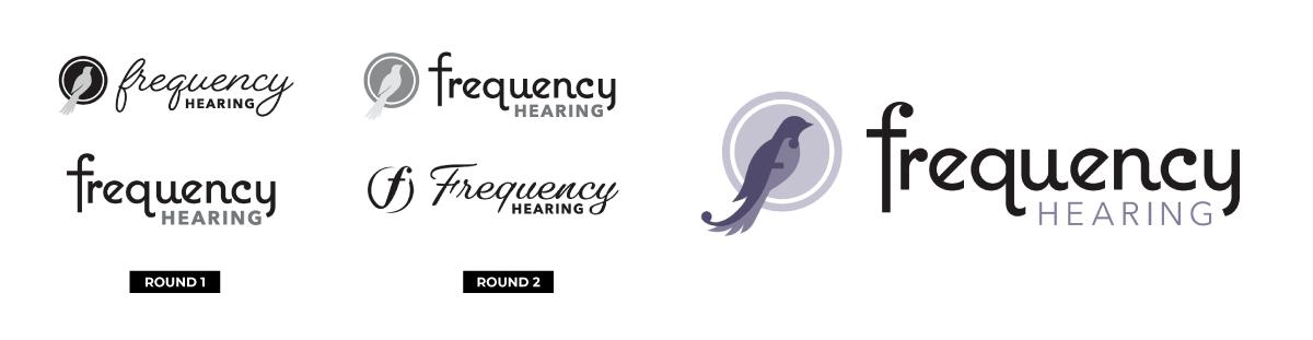 nine10 logo design Frequency Hearing steps