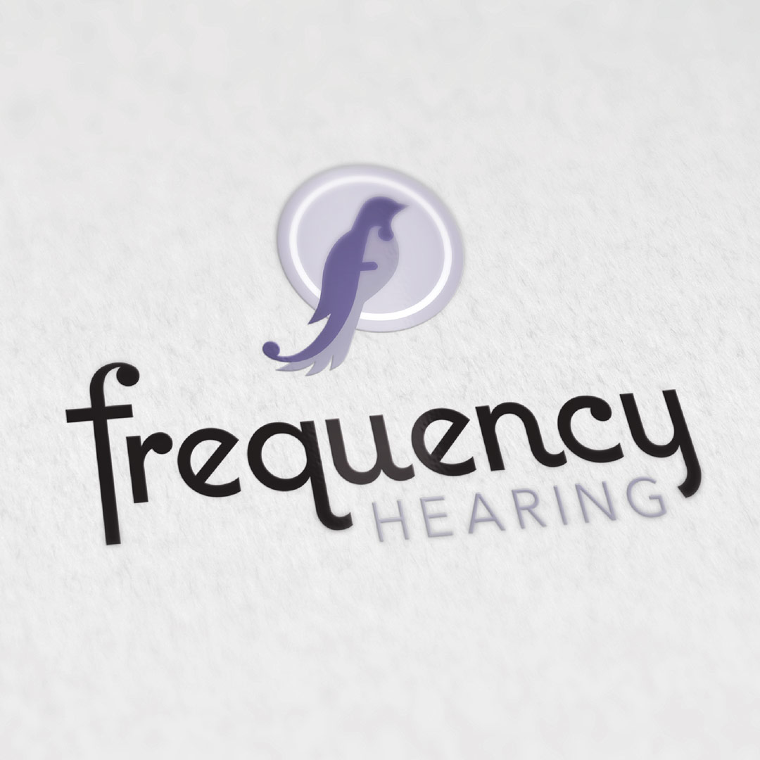 nine10 logo design Frequency Hearing