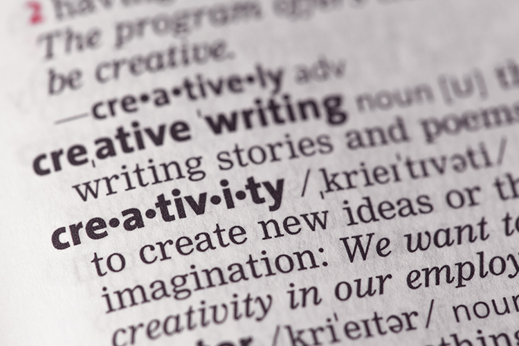 Close up image of the definition of creativity in the dictionary