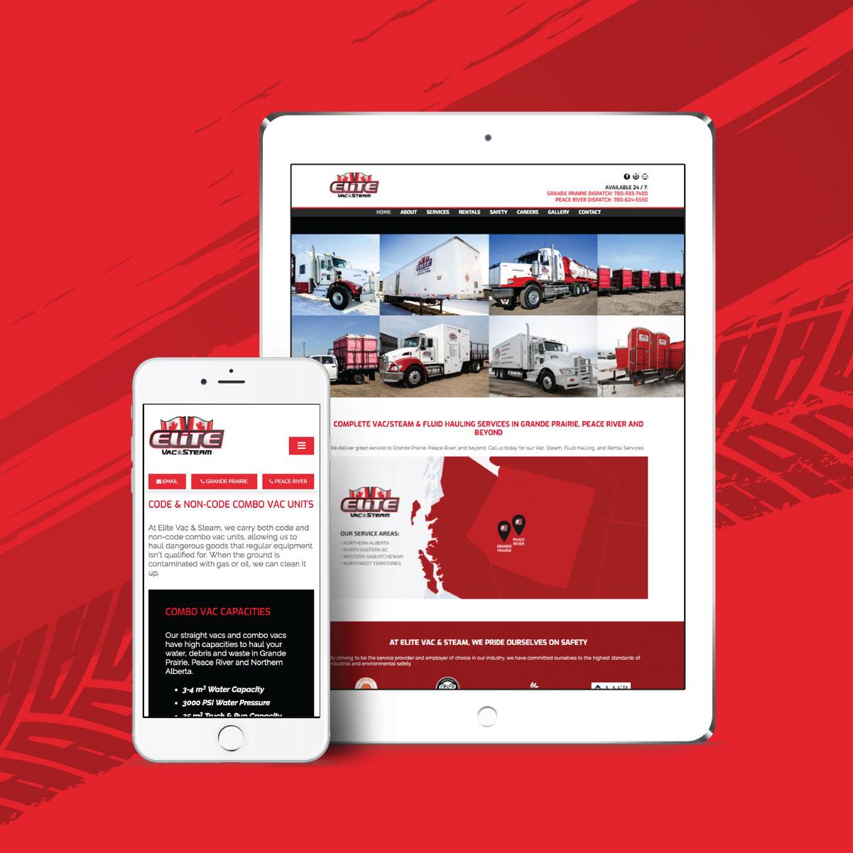 elite vac and steam nine10 websites mobile compatible
