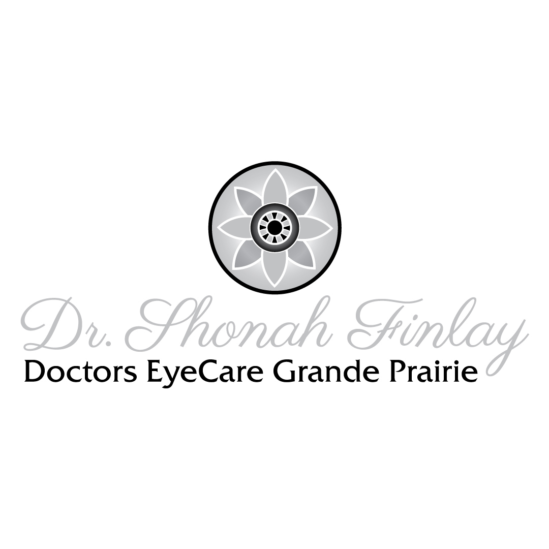 Black and White version of logo Created for Dr. Shonah Finlay at Doctors EyeCare Grande Prairie