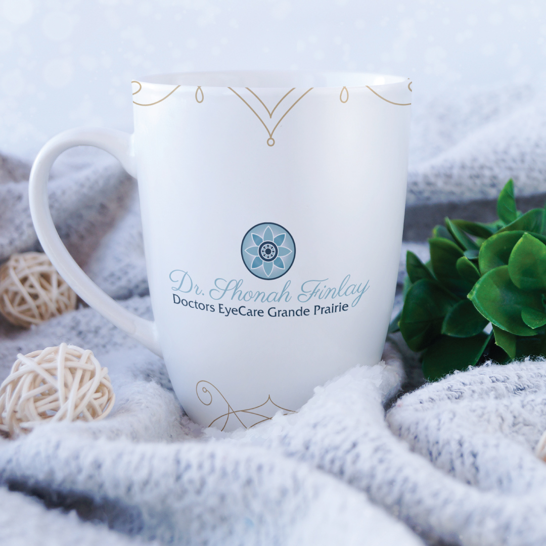 Coffee Mug Mockup Design Created for Dr. Shonah Finlay at Doctors EyeCare Grande Prairie