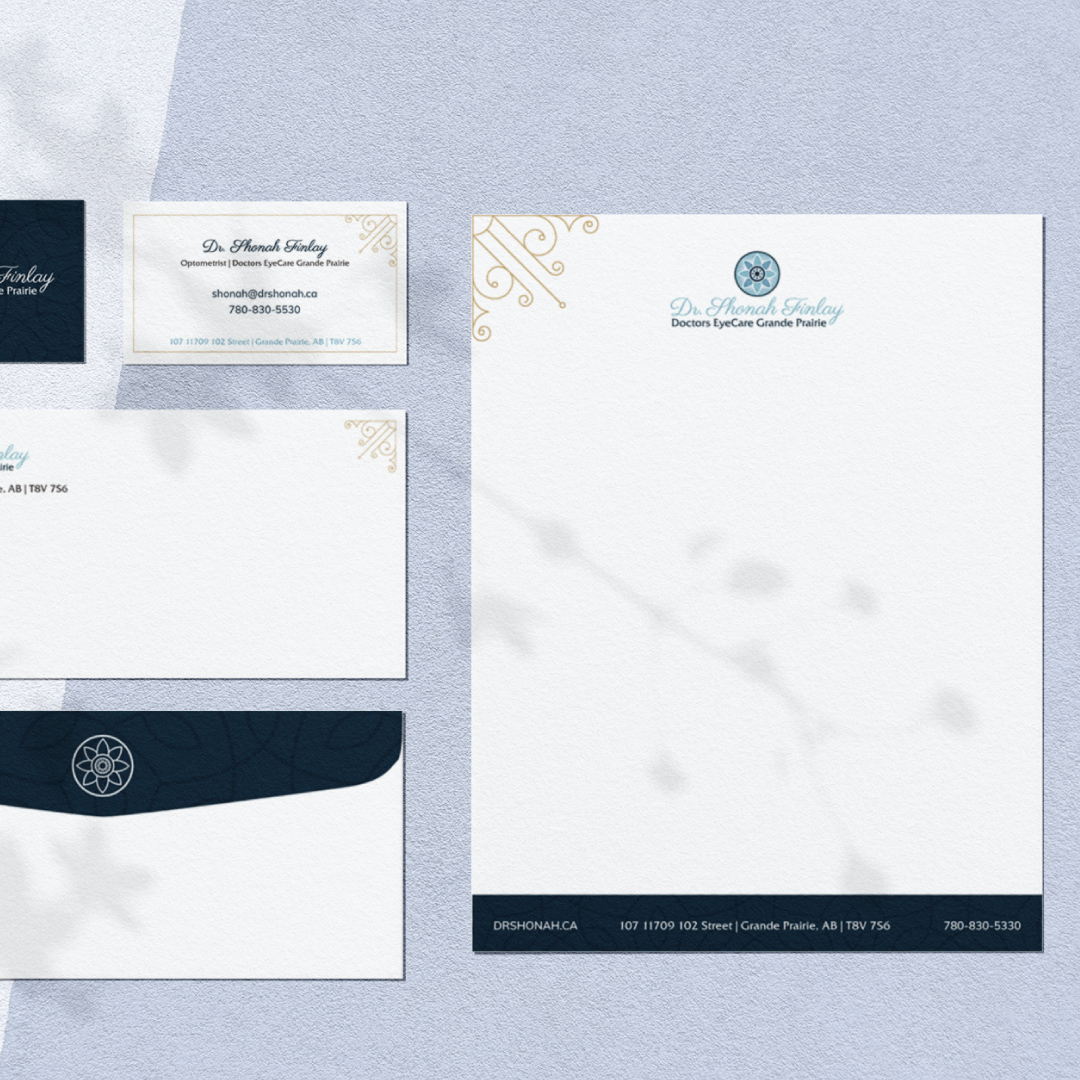Stationary Design Created for Dr. Shonah Finlay at Doctors EyeCare Grande Prairie