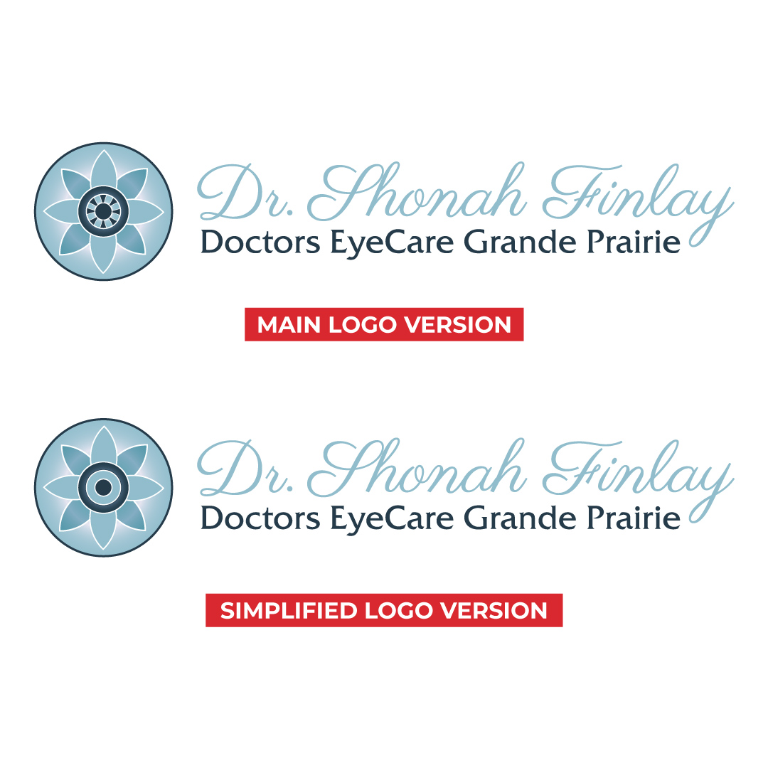 Main and Simplified Logo Design Created for Dr. Shonah Finlay at Doctors EyeCare Grande Prairie