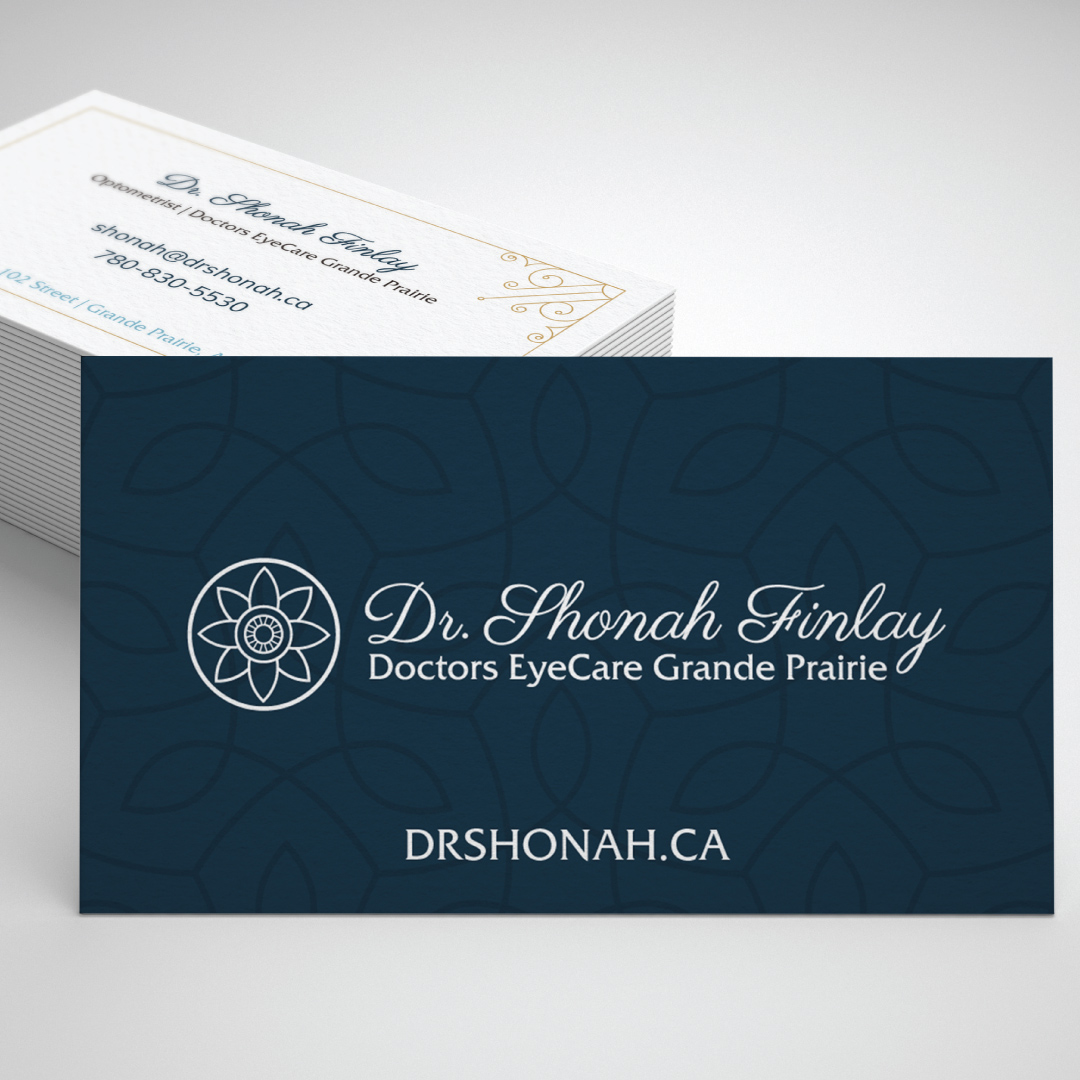 Business Card Design Created for Dr. Shonah Finlay at Doctors EyeCare Grande Prairie
