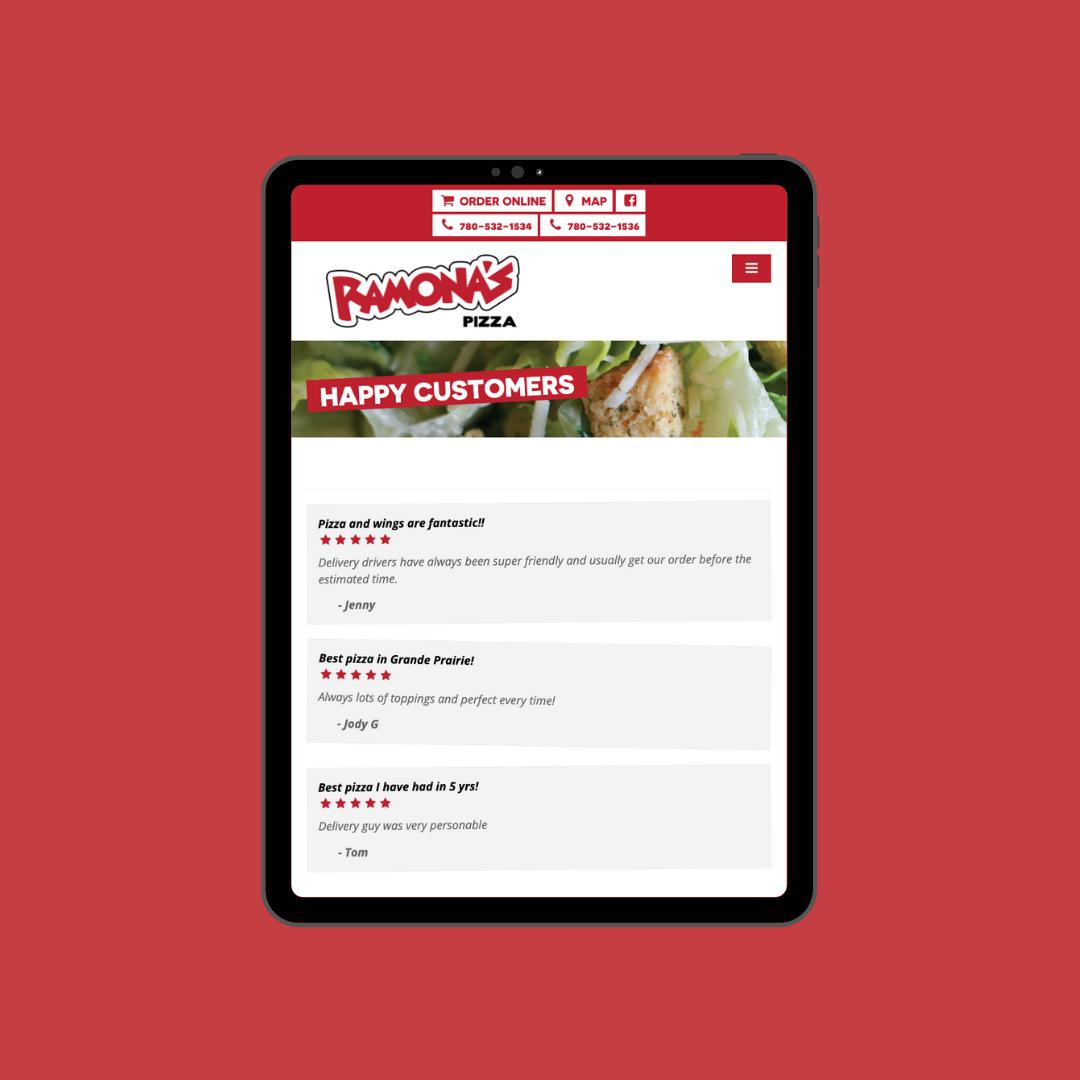 Tablet View Website